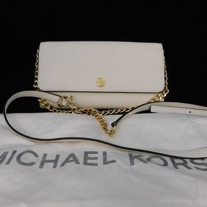 Michael Kors Jet Set Saffiano Leather Shoulder Bag